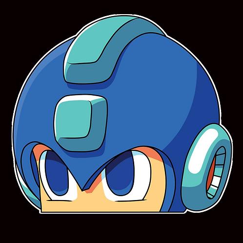 Peeker Anime Peeking Sticker Car Window Decals PK081 Mega Man
