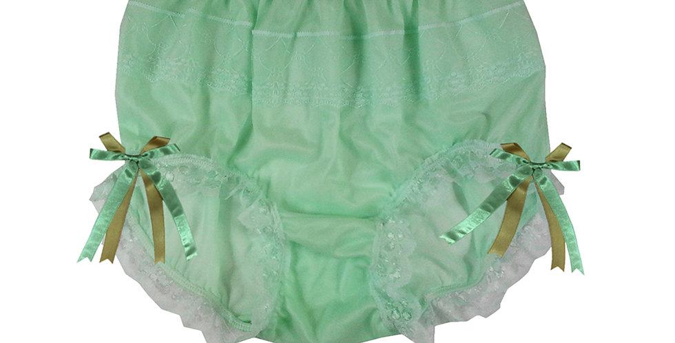 JYH17D07 Fair Green Handmade Nylon Panties Women Men Lace Knickers Briefs