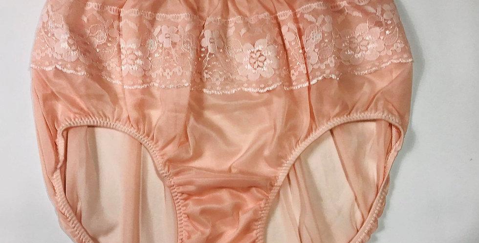 New Fair Orange Nylon PlusSize Panties Nylon Briefs Men Floral Knickers JY16
