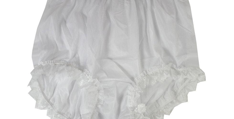 NNH24D16 White Handmade Panties Lace Women Men Briefs Nylon Knickers