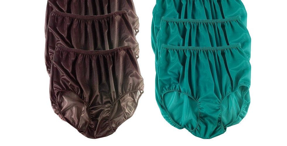 NSD30Lots 6 pcs Wholesale Women New Panties Granny Briefs Nylon Lingerie