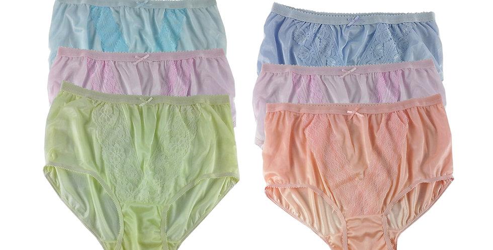NLSG106 Lots 6 pcs Wholesale New Panties Granny Briefs Nylon Men Women