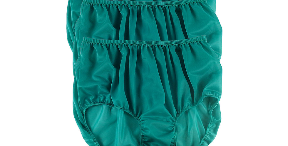 B17 Deep Green Lots 3 pcs Wholesale Women New Panties Granny Briefs Nylon