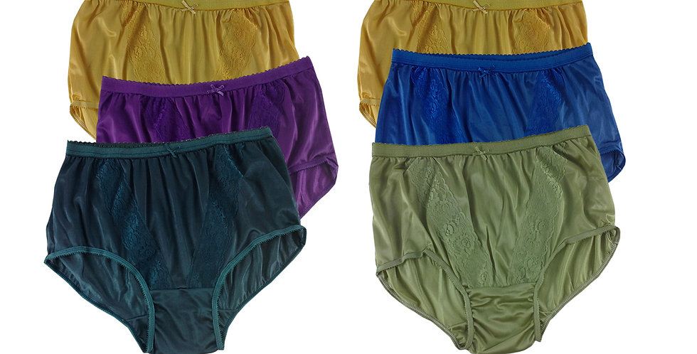 KJSJ39 Lots 6 pcs Wholesale New Panties Granny Briefs Nylon Men Women