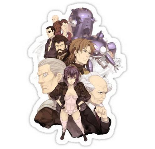 SRBB0691 ghost in the shell motoko kusanagi batou  anime sticker