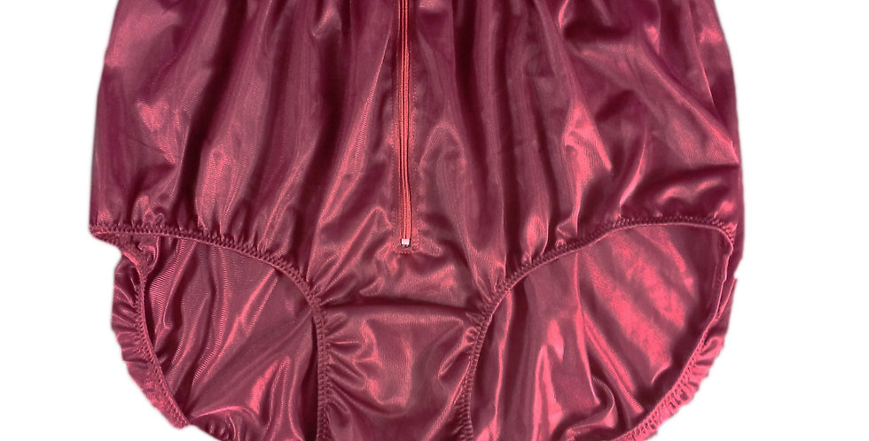 NH03D03 Deep Red Handmade Panties Lace Women Men Briefs Nylon Knickers