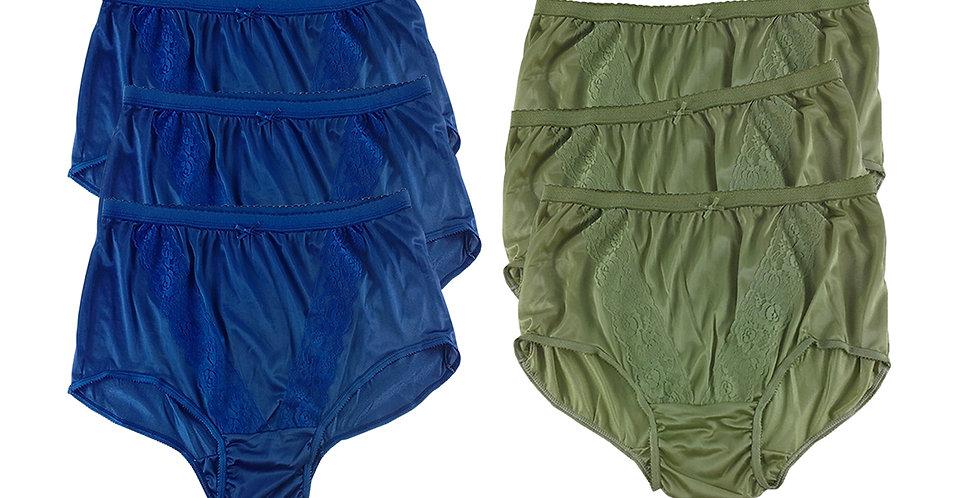 KJSJ06 Lots 6 pcs Wholesale New Panties Granny Briefs Nylon Men Women
