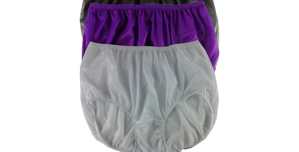 A131 Lots 3 pcs Wholesale Women New Panties Granny Briefs Nylon Knickers