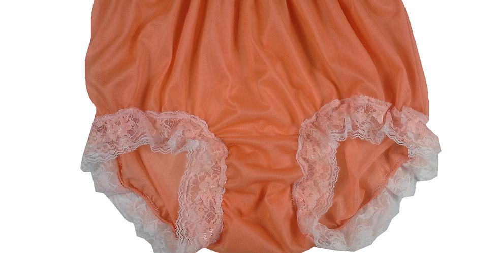 NNH05D01 Orange Handmade Panties Lace Women Men Briefs Nylon Knickers