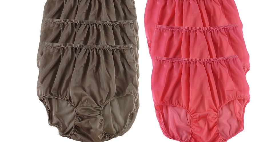 NSD95Lots 6 pcs Wholesale Women New Panties Granny Briefs Nylon Lingerie
