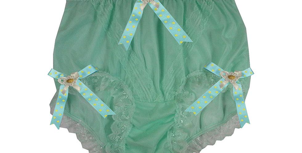SSH18D03 Green Handmade Nylon Panties Lace Women Granny Men Briefs