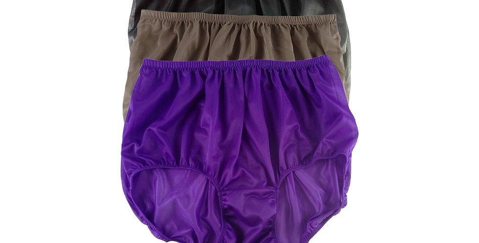A95 Lots 3 pcs Wholesale Women New Panties Granny Briefs Nylon Knickers