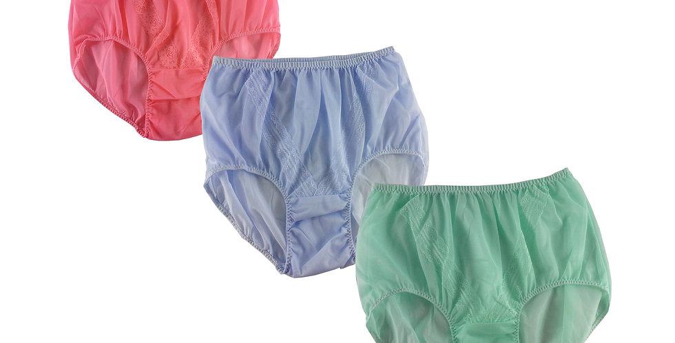 SSTM03 Lots 3 pcs Wholesale New Nylon Panties Lace Women Men Briefs