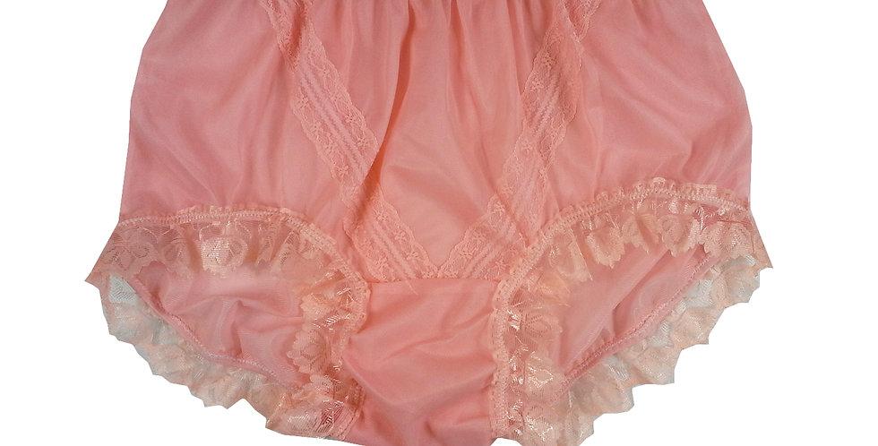 SSH04D05 light pink Handmade Nylon Panties Lace Women Granny Men Briefs