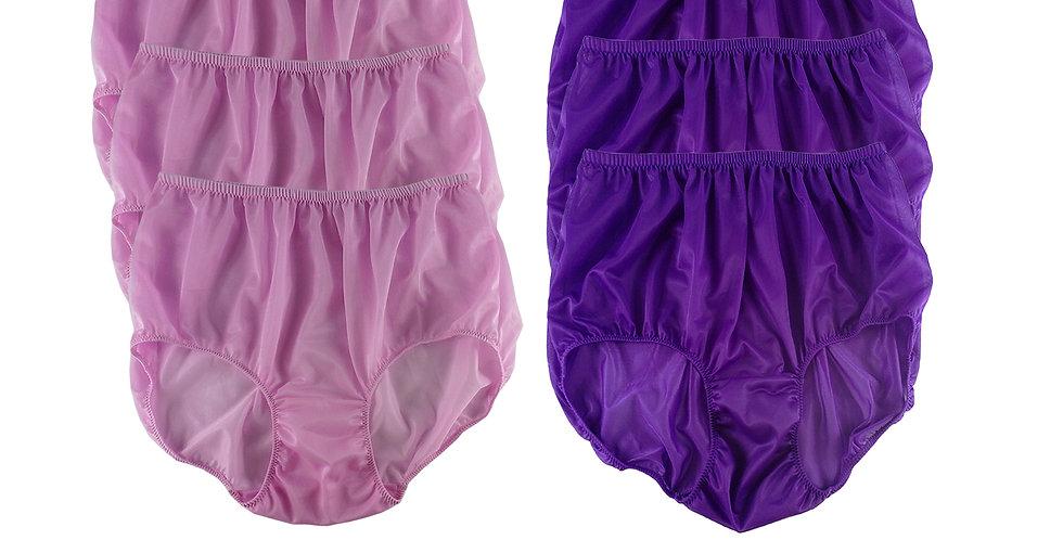 NSD52Lots 6 pcs Wholesale Women New Panties Granny Briefs Nylon Lingerie