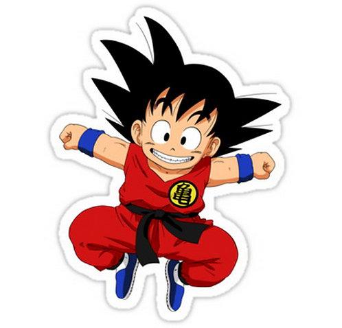 SRBB0713 goku Dargon Ball Z anime sticker