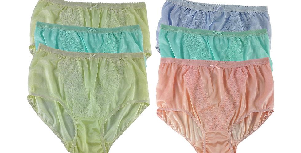NLSG49 Lots 6 pcs Wholesale New Panties Granny Briefs Nylon Men Women