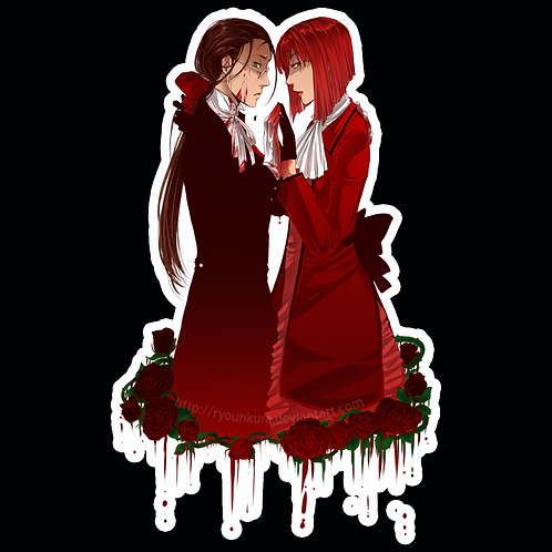 Anime Stickers Die-cut Car motorcycle laptops phone Truck wall BB52 Black Butler