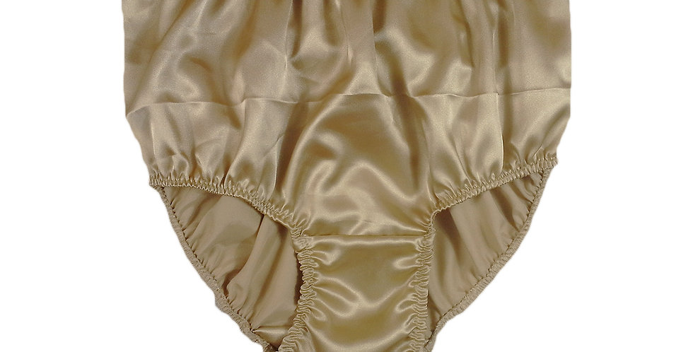 STP07 Gold Brown New Satin Panties Women Men Briefs Knickers