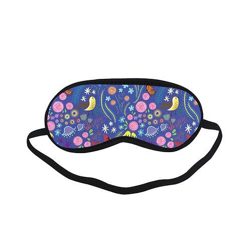 PTEM335 bird flower pattern design Eye Printed Sleeping Mas