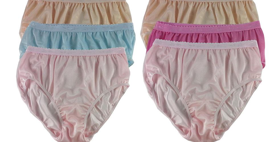 CKSL40 Lots 6 pcs Wholesale New Nylon Panties Women Undies Briefs