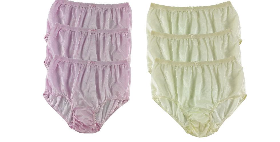 NYSE03 Lots 6 pcs New Panties Wholesale Briefs Silky Nylon Men Women