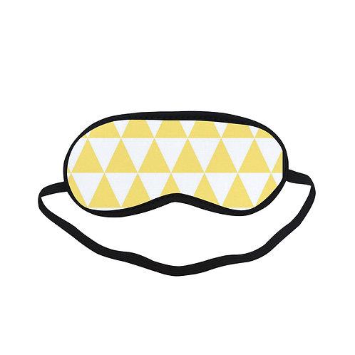 PTEM030 Yellow Harlequin pattern Eye Printed Sleeping Mask