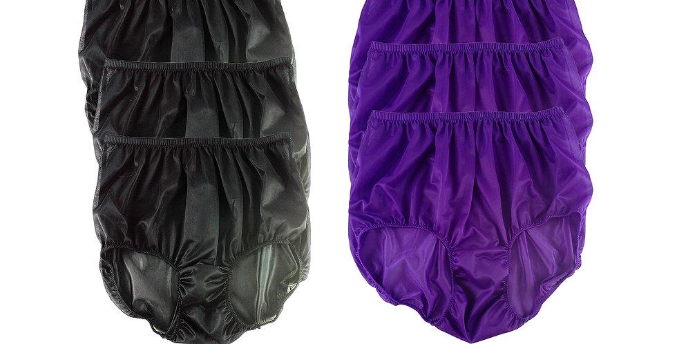 NSD10Lots 6 pcs Wholesale Women New Panties Granny Briefs Nylon Lingerie