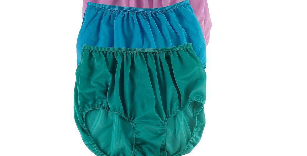 A143 Lots 3 pcs Wholesale Women New Panties Granny Briefs Nylon Knickers