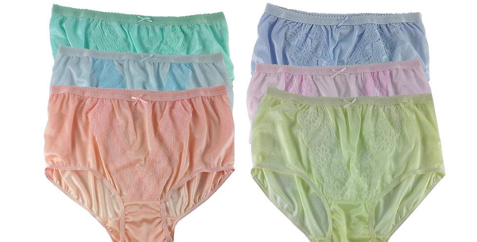 NLSG141 Lots 6 pcs Wholesale New Panties Granny Briefs Nylon Men Women