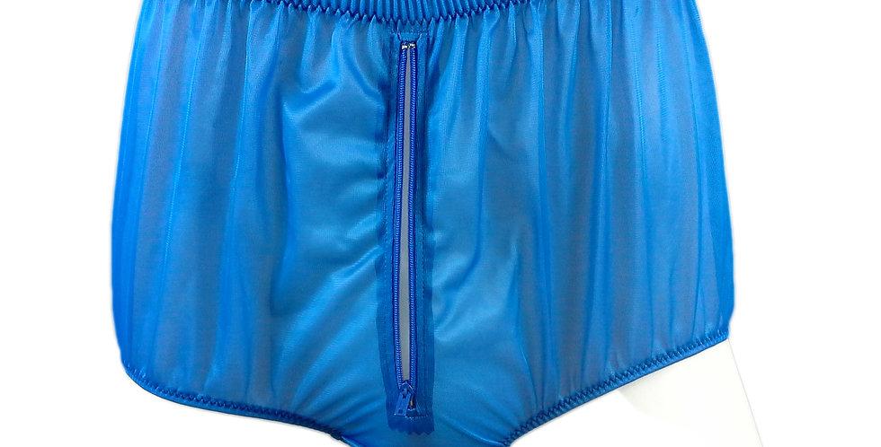 NNH03P13 royal blue Handmade Panties Lace Women Men Briefs Nylon Knickers