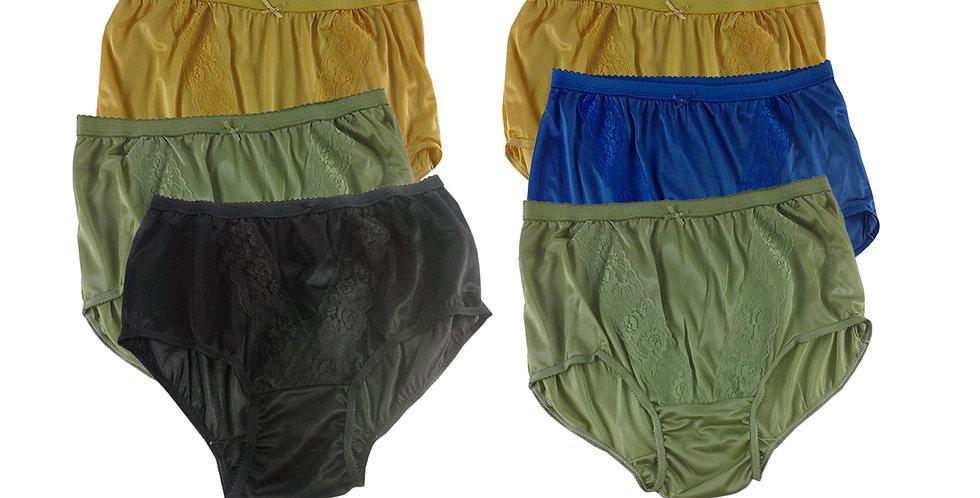 KJSJ45 Lots 6 pcs Wholesale New Panties Granny Briefs Nylon Men Women