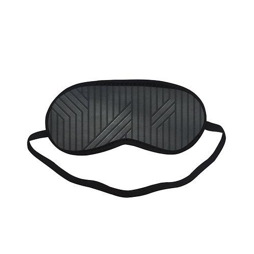 PTEM096 zigzag with line black and white Eye Printed Sleeping Mask