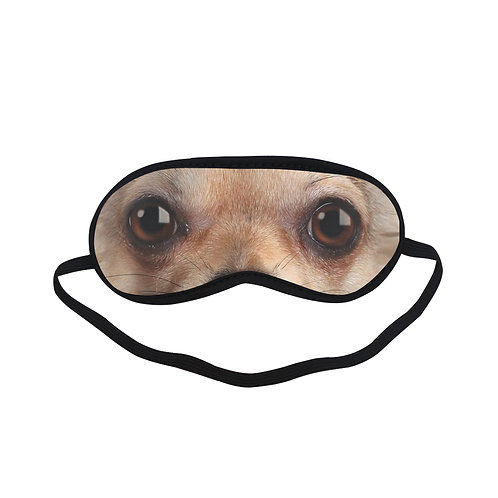 ATEM149 Chihuahua dog Eye Printed Sleeping Mask