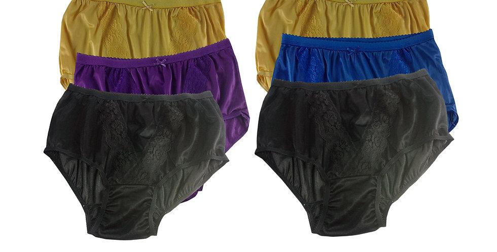 KJSJ29 Lots 6 pcs Wholesale New Panties Granny Briefs Nylon Men Women