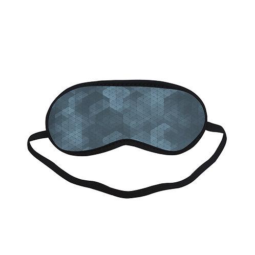 PTEM078 Dark Gray geometric design  Eye Printed Sleeping Mask