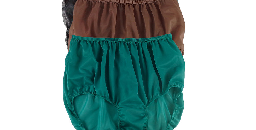 A61 Lots 3 pcs Wholesale Women New Panties Granny Briefs Nylon Knickers