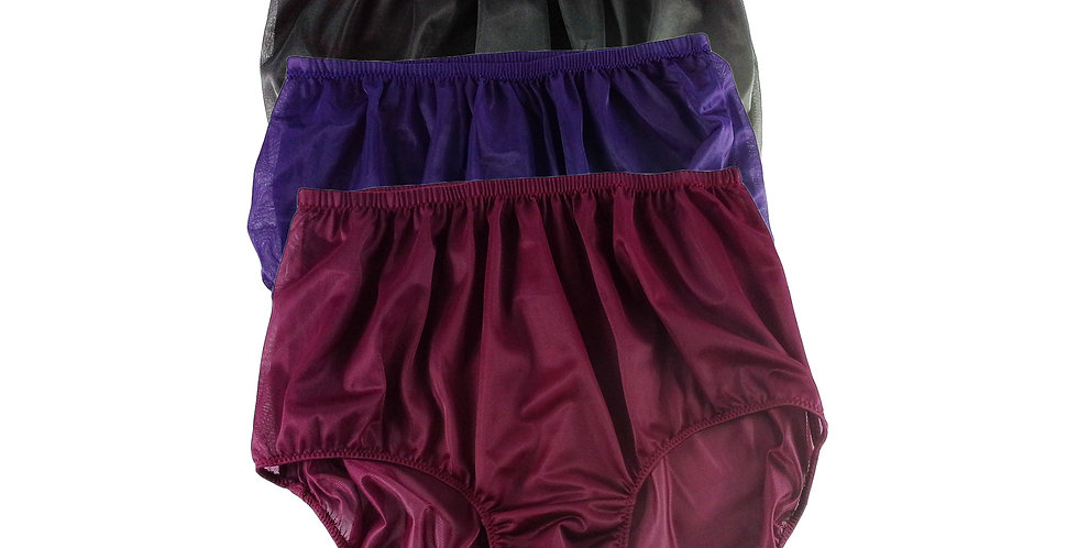 A4 Lots 3 pcs Wholesale Women New Panties Granny Briefs Nylon Knickers