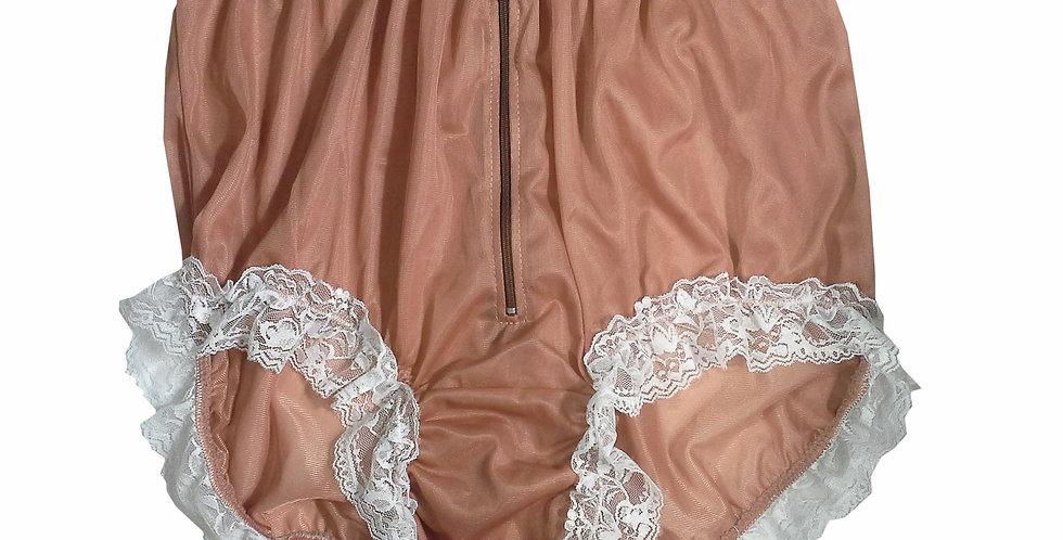 NNH09D11 Fair Brown Handmade Panties Lace Women Men Briefs Nylon Knickers
