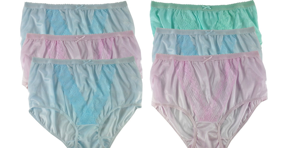 NLSG74 Lots 6 pcs Wholesale New Panties Granny Briefs Nylon Men Women
