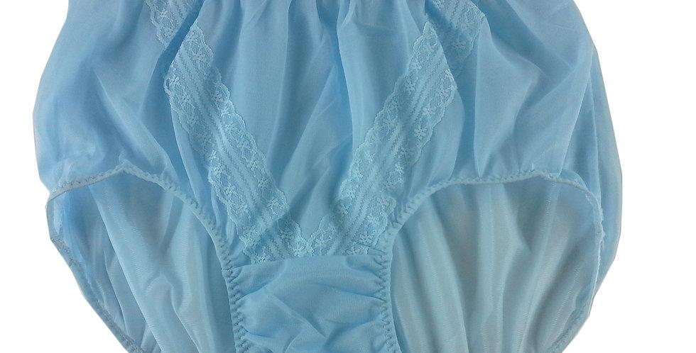 SS02 fair blue Nylon Panties Lace Women Vintage  Granny HI-CUTS Briefs