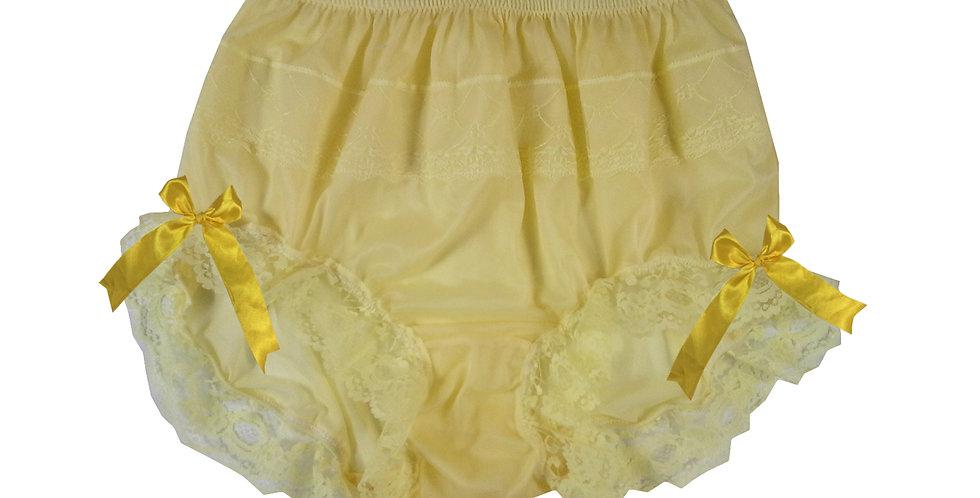 JYH10D01 yellow Handmade Nylon Panties Women Men Lace Knickers Briefs