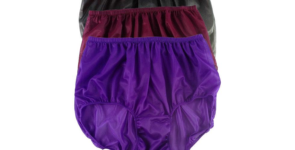 A91 Lots 3 pcs Wholesale Women New Panties Granny Briefs Nylon Knickers