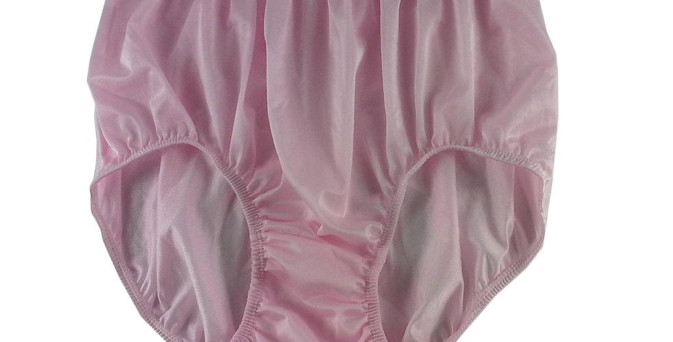NQ02 Pink New Panties Granny Briefs Nylon Underwear Men Women