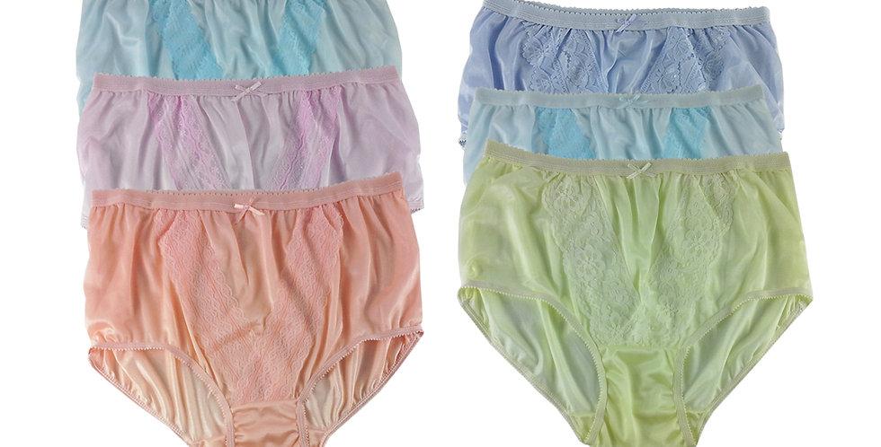 NLSG132 Lots 6 pcs Wholesale New Panties Granny Briefs Nylon Men Women