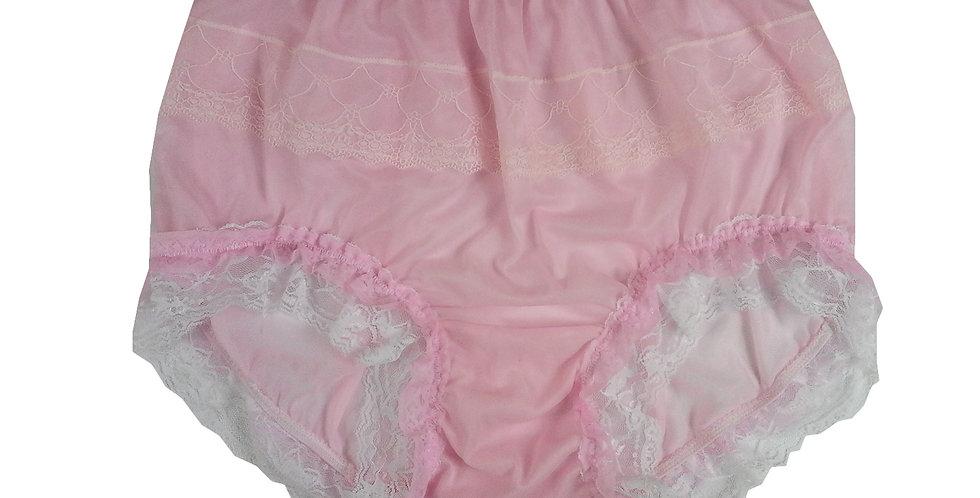 JYH05D10 Fair Pink Handmade Nylon Panties Women Men Lace Knickers Briefs