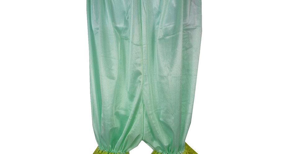 PTPH01D09 Olive Green New Nylon Pettipants Women Men Slips Lace Lingerie