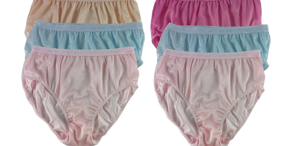 CKSL37 Lots 6 pcs Wholesale New Nylon Panties Women Undies Briefs