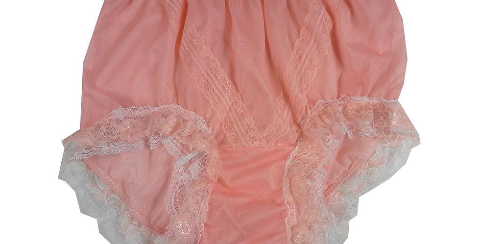 SSH05D07 Orange Handmade Nylon Panties Lace Women Granny Men Briefs