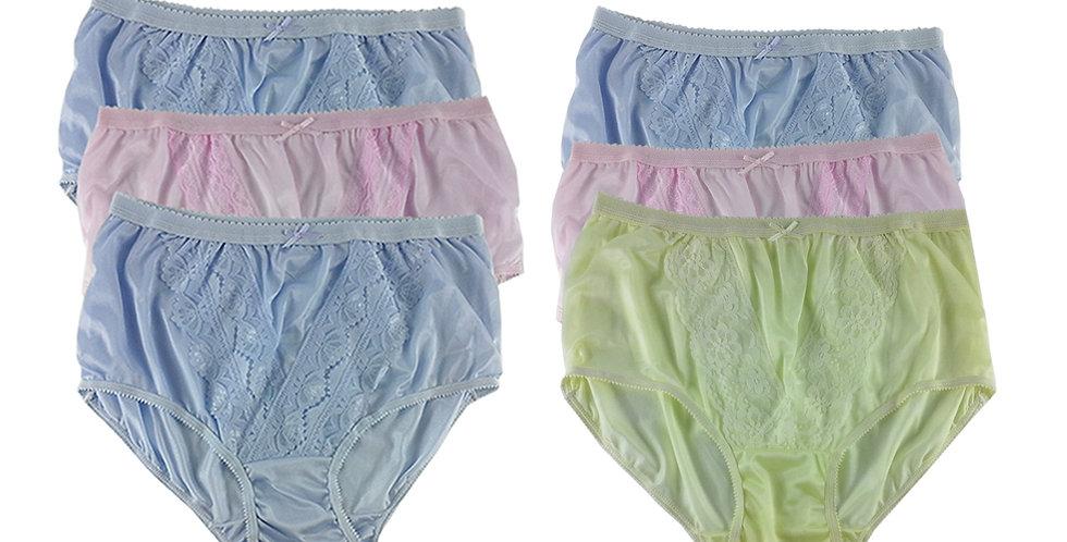 NLSG26 Lots 6 pcs Wholesale New Panties Granny Briefs Nylon Men Women